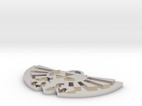 Zelda Logo Pendant in Platinum