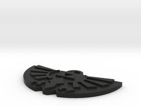Zelda Logo Pendant in Black Natural Versatile Plastic