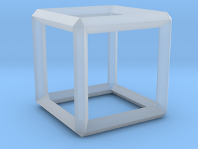 Cube wireframe in Smooth Fine Detail Plastic