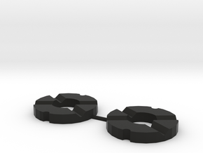 Martin Fletcher 4 Feather Rings in Black Natural Versatile Plastic