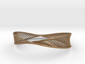 DNA Bracelet 3 in Raw Brass: Medium