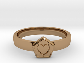 3D Printed Bond What You Love Ring Size 7  in Polished Brass