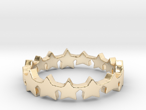 The Stars Shine Brighter   Size 6 in 14k Gold Plated Brass