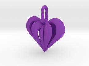 Heart Pendant Simple Elegance Small in Purple Processed Versatile Plastic