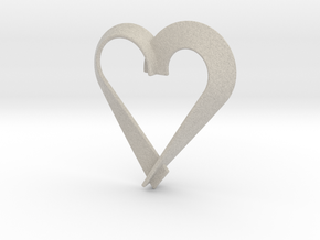Heart Shaped Pendant in Natural Sandstone