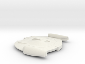 Federation Escort Ship in White Natural Versatile Plastic