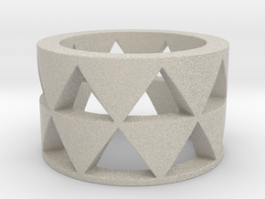 Triangles ring Ring Size 10 in Natural Sandstone