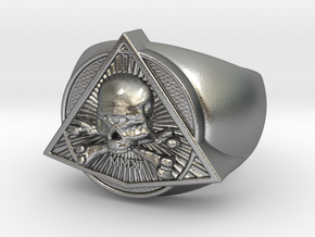 Saint Vitus Ring Size 13 in Natural Silver