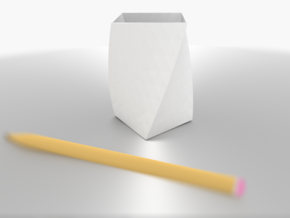 Orbit Plume Holder in White Natural Versatile Plastic