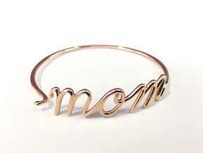 Mom Wire Bracelet in 14k Rose Gold Plated Brass