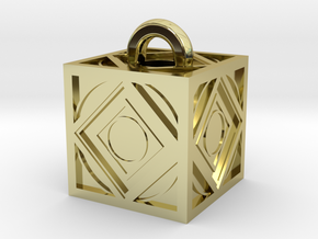 Limited Edition Jedi Holocron Keychain in 18k Gold Plated Brass