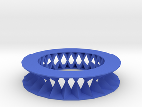 Rhombus pattern bracelet in Blue Strong & Flexible Polished
