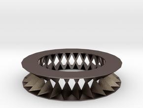 Rhombus pattern bracelet in Polished Bronzed Silver Steel