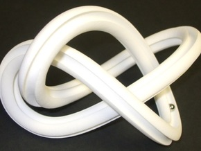 GroovyMobiusFigure8Knot 12 24 2014 in White Strong & Flexible Polished