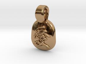 Ai Kanji Pendant in Polished Brass