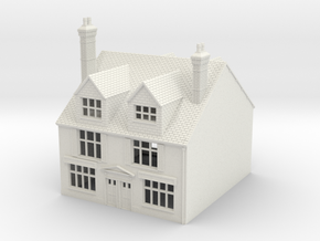 TFS-18 N Scale Topsham Fore Street building 1:148 in White Natural Versatile Plastic