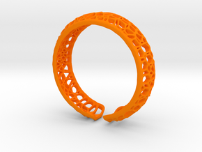 Coral Cuff Bracelet in Orange Strong & Flexible Polished