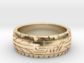 Subaru STI ring - 20 mm (US size 10) in 14K Yellow Gold