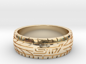 Subaru STI ring - 22 mm (US size 13) in 14K Yellow Gold