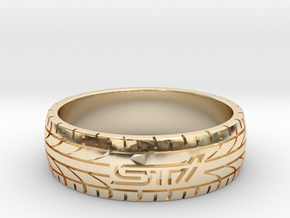 Subaru STI ring - 24 mm (US size 15) in 14K Yellow Gold
