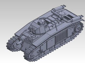 1/144 CHAR B1bis in Smooth Fine Detail Plastic