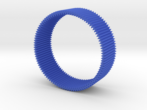 Zig zag bangle in Blue Strong & Flexible Polished