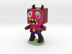 Squarey Monster in Full Color Sandstone