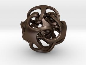 Metatrino Pendant in Polished Bronze Steel