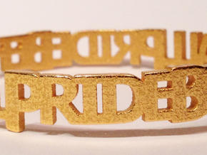 bangle PRIDE inches in Polished Gold Steel