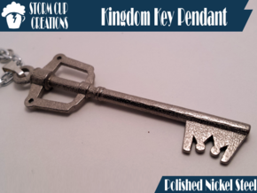 Kingdom Key Pendant in Polished Nickel Steel