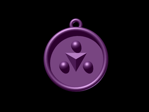 Zelda Ocarina Of Time Shadow Medallion in Purple Processed Versatile Plastic