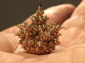 Amazing Fractal Bulb - mini in Polished Bronze