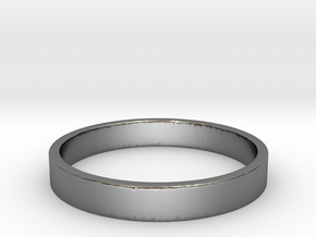 Simple and Elegant Unisex Ring | Size 8 in Polished Silver