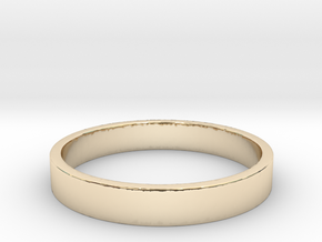 Simple and Elegant Unisex Ring | Size 7 in 14k Gold Plated Brass