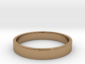Simple and Elegant Unisex Ring | Size 6 in Polished Brass