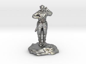 Elf Cleric With Holy Symbol and Sword in Natural Silver