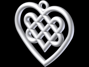Celtic Heart Knot in White Strong & Flexible