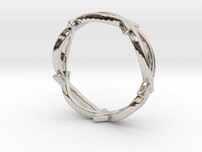Jesus Fish Eterniy Style Ring Size 13 in Rhodium Plated Brass