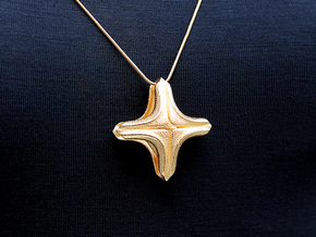 Chant Pendant #2248 in Polished Gold Steel