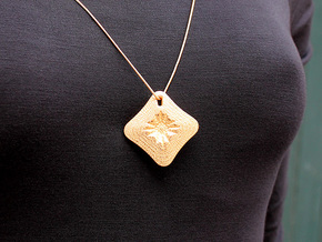 Monet Pendant #2273 in Polished Gold Steel