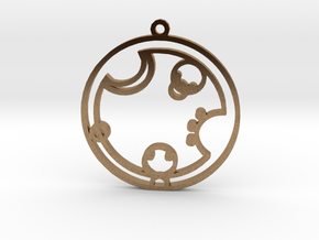 Charlotte - Necklace in Natural Brass