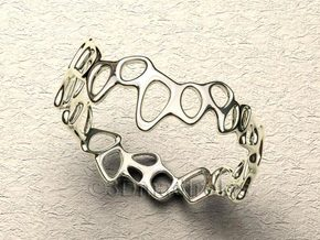 Meshring 03 in Natural Silver