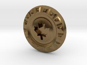 Golf Ball Marker Maple Leaf in Natural Bronze