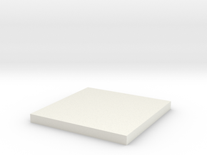 'N Scale' - 12'x12' Foundation Pad in White Natural Versatile Plastic