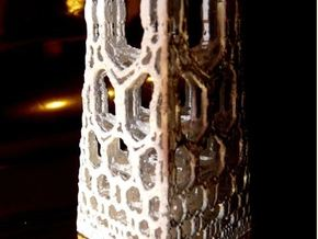 Miniature fractal building in Smooth Fine Detail Plastic