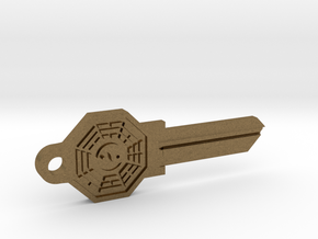 Bagua House Key Blank - KW1/66 in Raw Bronze