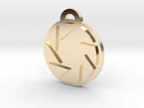 Portal Aperture Science Pendant in 14k Gold Plated Brass