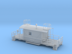 A&S Caboose N scale in Smooth Fine Detail Plastic