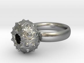 Sputnik Sea Urchin Ring in Natural Silver