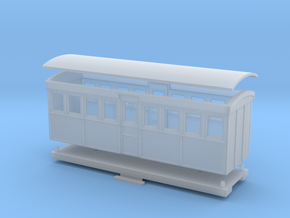 HOn30 20 foot Bogie Tramway Carriage (A) in Smooth Fine Detail Plastic